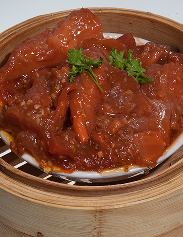 Steamed Beef Tendon in Peking Sauce