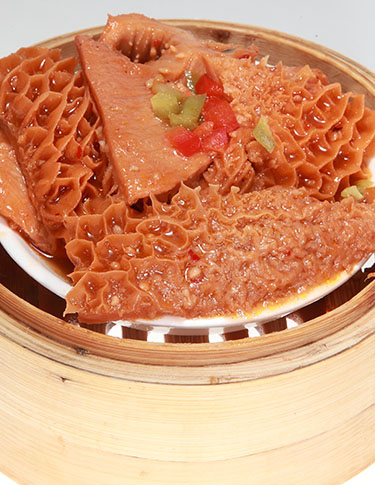 Steamed Beef Tripe in Spicy Sauce